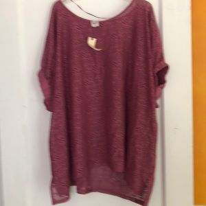 Anthropologie Mauve Summer Top NWT Size M/L
